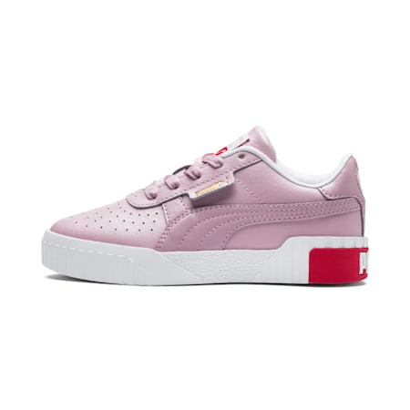 Cali Little Kids' Shoes, Puma White-Hibiscus, small