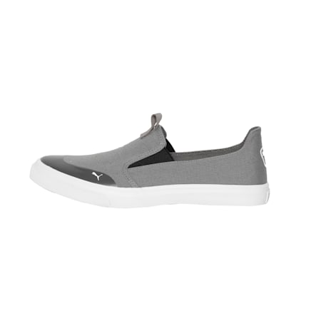 Lazy Knit Slip on IDP Kid's Sneakers, Charcoal Gray-Puma White, small-IND