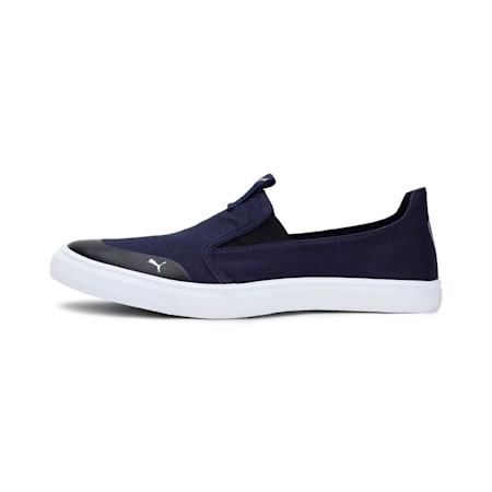 Lazy Knit Slip on IDP Men's Sneakers, Peacoat-Silver, small-IND