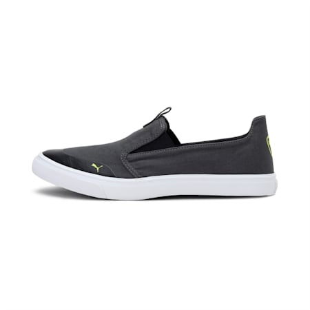 Lazy Knit Slip on IDP Men's Sneakers, Dark Shadow-Limepunch, small-IND