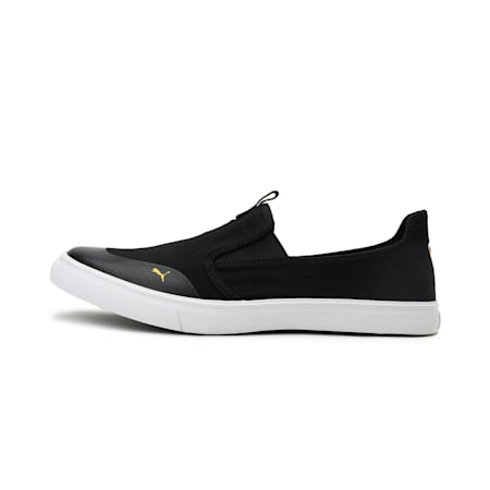 Lazy Knit Slip on IDP Men's Sneakers, Puma Black-Spectra Yellow, small-IND