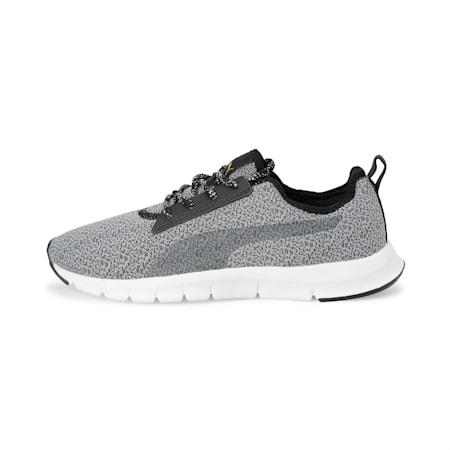 Flexracer HM NU DP Women's Running Shoe, Puma Black-Quarry-Sulphur, small-IND
