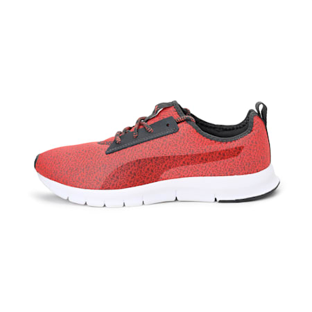 Flexracer HM NU DP SoftFoam Women's Running Shoe, Dark Shadow-Hot Coral, small-IND
