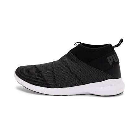Mono knit X IDP SoftFoam Men's Walking Shoe, Black-Asphalt-Puma White, small-IND