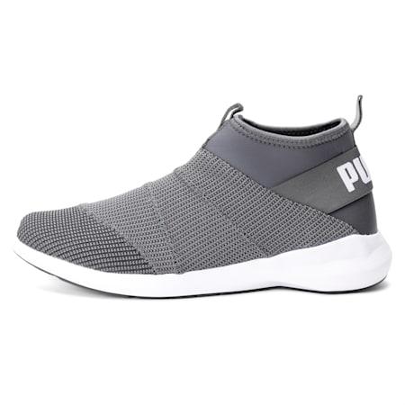 Mono knit X IDP Men's Walking Shoe, Asphalt-Charcoal Gray-White, small-IND