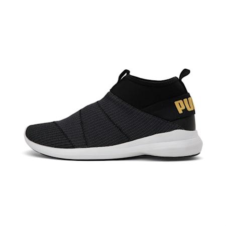 Mono knit X IDP SoftFoam Men's Walking Shoe, Puma Black-Golden Rod, small-IND