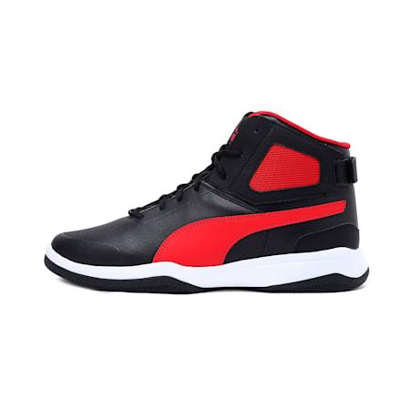 Rebound BBX Mesh IDP Men's Shoes, Puma Black-High Risk Red, small-IND