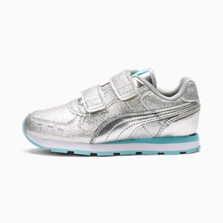 Vista Glitz Little Kids' Shoes, Puma Silver-Gulf Stream, small