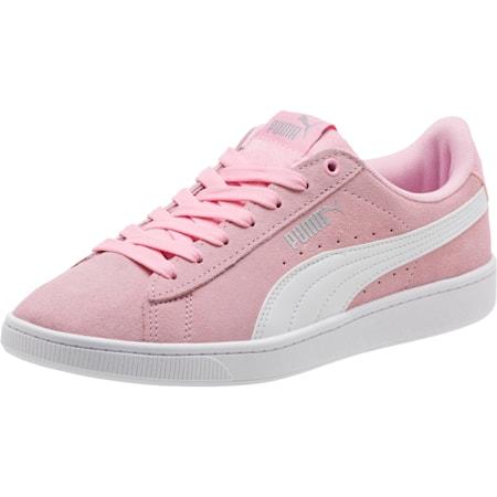 Zapatos deportivosPUMA Vikky v2 para mujer, Pale Pink-Puma White-Silver, pequeño