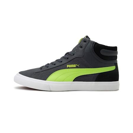 Hip Hop Mid Perf IDP Men's Sneakers, Asphalt-Limepunch-Puma Black, small-IND