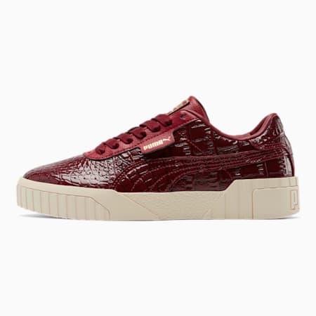 Zapatos deportivos Cali Croc para mujer, Pomegranate-Pomegranate, pequeño
