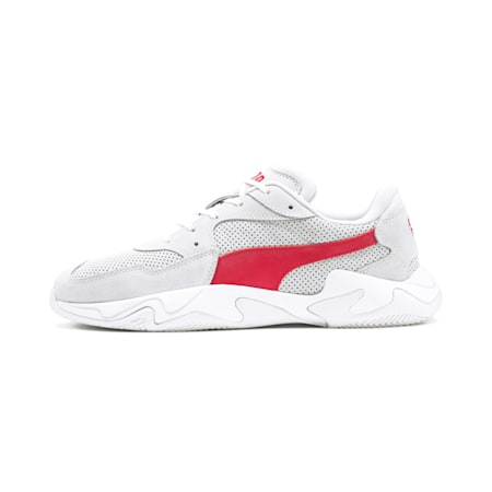 Storm Street Trainers, Puma White-High Risk Red, small