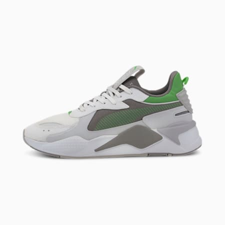 RS-X Hard Drive Trainers, Puma White-Steel Gray, small