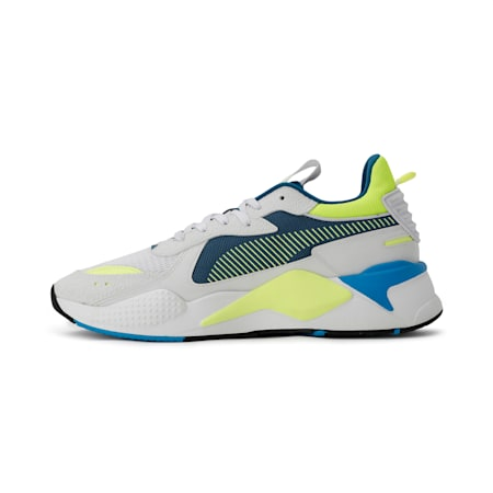 RS-X Hard Drive Shoes, White-Fizzy Yellow-Digi-blue, small-IND