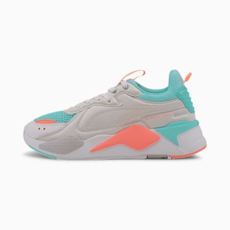 RS-X Softcase Sneaker, Puma White-ARUBA BLUE, small