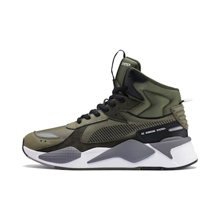 RS-X Mid Utility Sneakers, Burnt Olive-Forest Night, small
