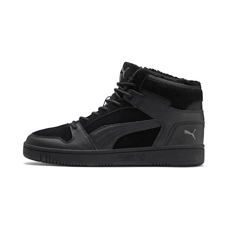 Rebound Lay Up SD Fur Sneaker, Puma Black-CASTLEROCK, small