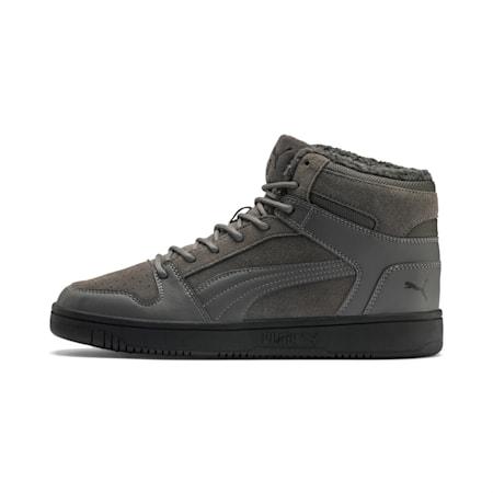 Rebound Lay Up SD Fur Sneaker, CASTLEROCK-Puma Black, small