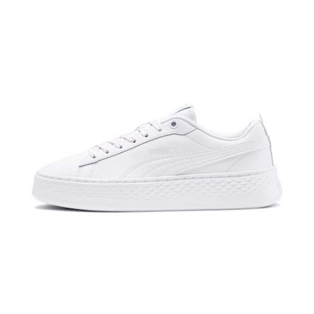 Smash Platform Q4 Polka SoftFoam+ Sneakers, White-Heather-Bridal Rose, small-IND