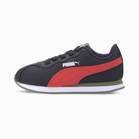 PUMA Turin II SoftFoam+ Kids' Shoes, Peacoat-Paprika, small-IND