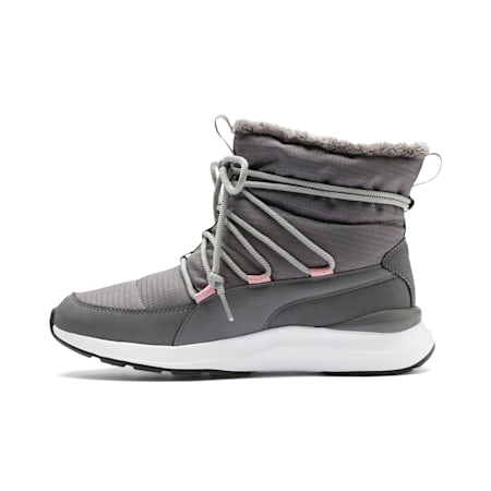Adela Women's Winter Boots, Steel Gray-Puma White, small