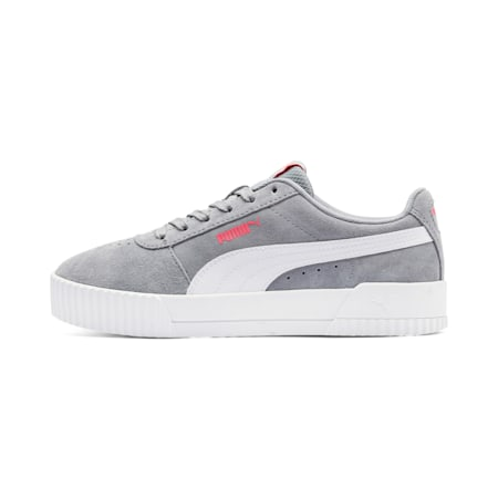 Carina Suede Women's Shoes, Tradewinds-Puma White, small-IND