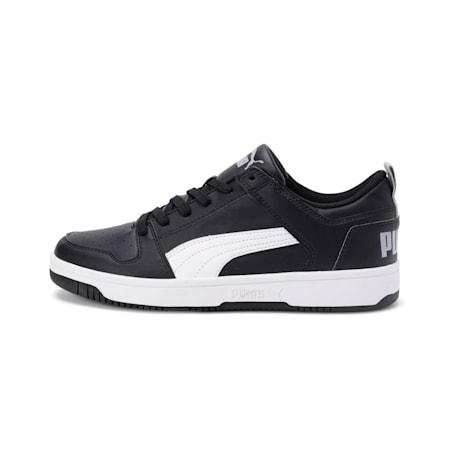 PUMA Rebound Lay Up SoftFoam+ Unisex Sneakers, Puma Black-White-High Rise, small-IND