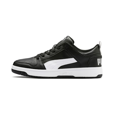 PUMA Rebound LayUp Lo Men's Sneakers, Puma Black-White-High Rise, small