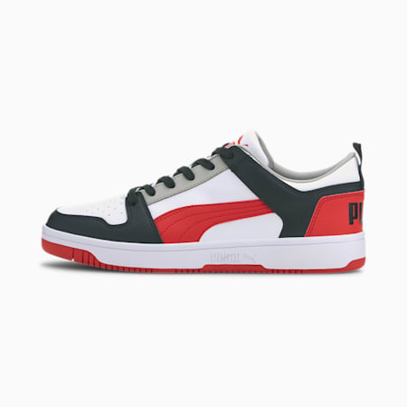 Rebound Lay Up Lo SL SoftFoam+ Sneakers, White-H R Red-Black-G Violet, small-IND
