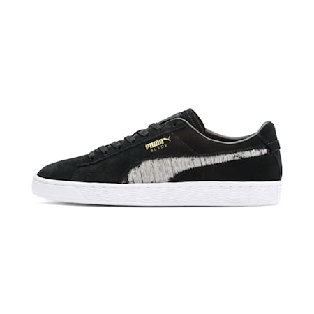 Suede Ripped Denim Shoes, Puma Black-P Black-P White, small-IND
