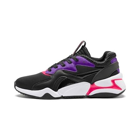 Nova Sci-Fi Women's Sneakers, Puma Black-Purple Glimmer, small