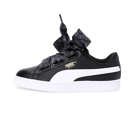 Basket Heart Reinvent Women's Shoes, Puma Black-Puma White, small-IND