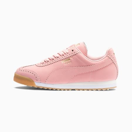 Roma Brogue Women's Shoes, Bridal Rose-Puma Team Gold, small-IND