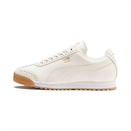 Roma Brogue Women's Sneakers, Pastel Parchment-P.Team Gold, small