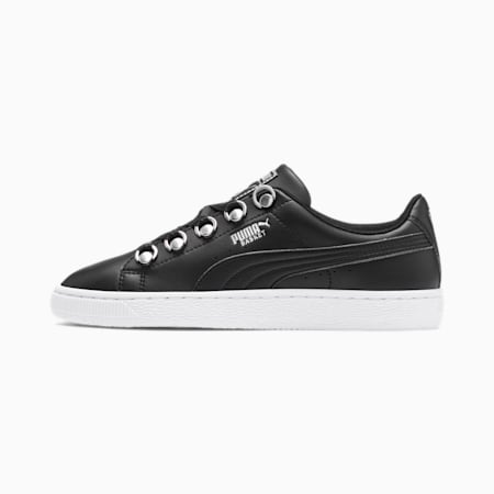 Basket Hike Women's Sneakers, Puma Black-Puma Silver, small