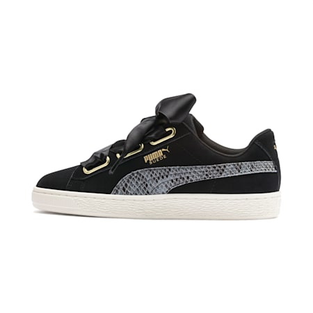 Suede Heart Snake Lux Women's Shoes, Puma Black-Puma Team Gold, small-IND