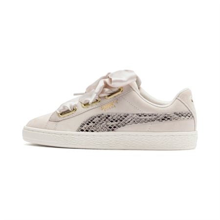 Suede Heart Snake Lux Women's Shoes, Pastel Parchment-PTeam Gold, small-IND