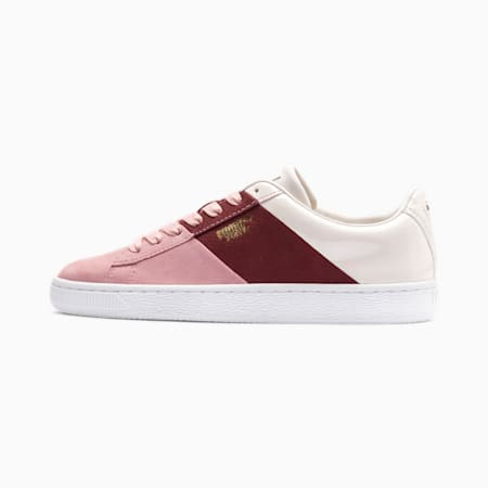 Basket Remix Women's Sneakers, Bridal Rose-Fired Brick, small