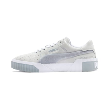 Cali Patternmaster Women's Trainers, Puma White-Quarry, small