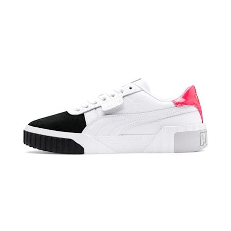 Cali Remix Women's Sneakers, Puma White-Puma Black, small