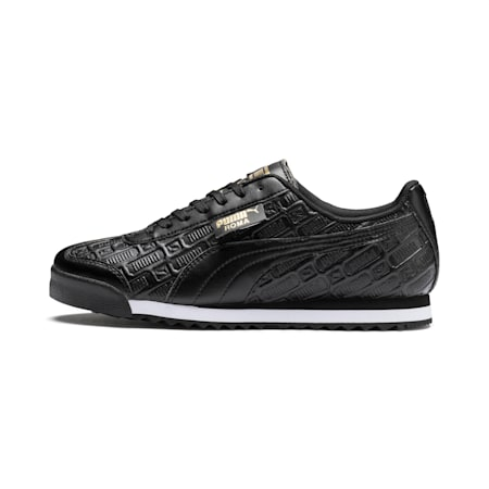 Roma Reinvent Women's Shoes, Puma Black-Puma Team Gold, small-IND