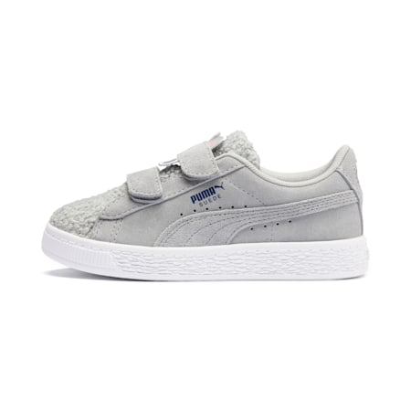 Suede Winter Monster Little Kids' Shoes, High Rise-Galaxy Blue, small