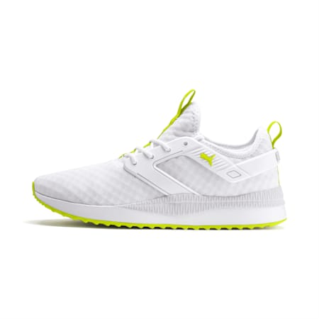 Pacer Next Excel Trainers, Puma White-Nrgy Yellow, small