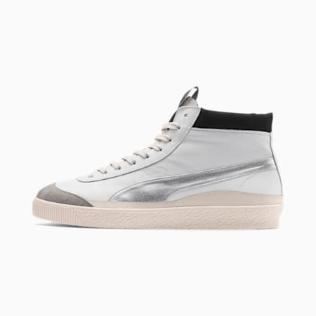 PUMA x RHUDE Basket '68 OG Mid Sneakers, Blanc de Blanc-Drizzle, small