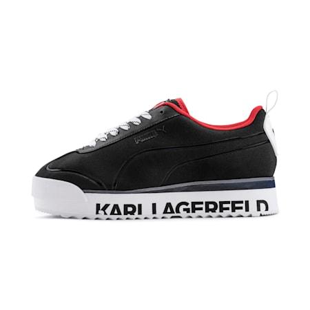 PUMA x KARL LAGERFELD Roma Amor Women's Shoes, Puma Black-Puma Black, small-IND
