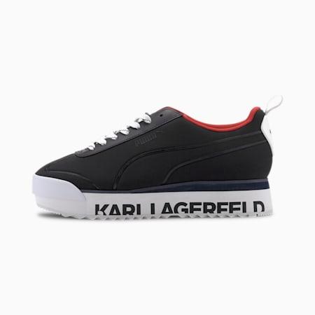PUMA x KARL LAGERFELD Roma Amor Women's Sneakers, Puma Black-Puma Black, small