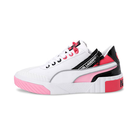 PUMA x KARL LAGERFELD Cali Women's Training Shoes, Puma White-PRISM PINK, small-IND