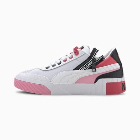 Zapatos deportivos Cali PUMA x KARL LAGERFELD para mujer, Puma White-PRISM PINK, pequeño