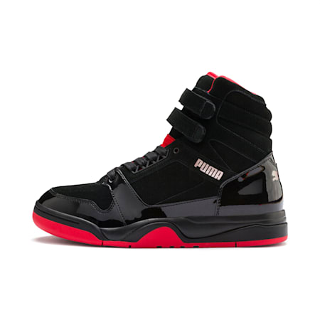 Zapatos deportivos Palace Guard Mid Red Carpet, PUMA Black-Risk Red-Bronce, pequeño