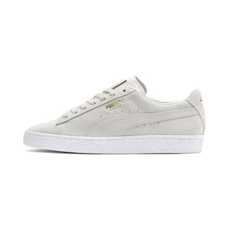 Suede Classic Metal Badge Trainers, Puma White-White-Team Gold, small-SEA